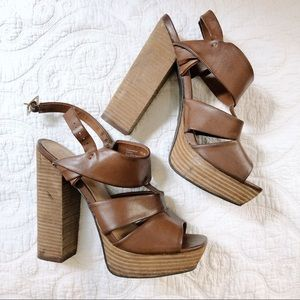 MIA Chunky Heel Thick Strap Sandals